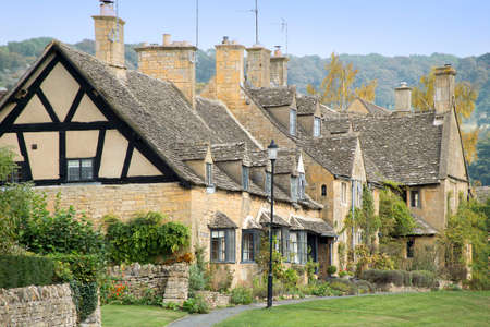 english village: a cottage in an english village