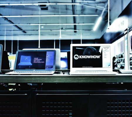 interior: Computer store interior