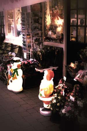 christmas decorations outside florist shop stock photo 34499404 - Christmas Decor Outside