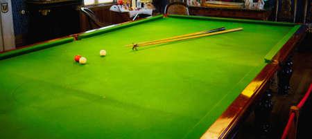 billiards room: Billiard table