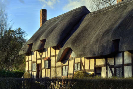 hathaway: Ann Hathaways cottage home of the wife of William Shakespeare Stock Photo