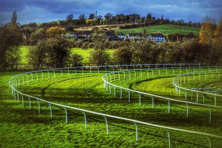 racecourse: Racecourse Stock Photo