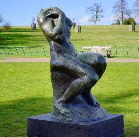 public houses: Sculpture in public park Stock Photo