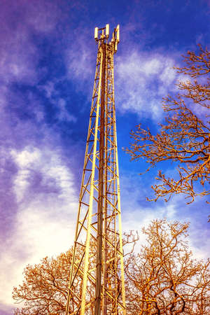 mast: Cellphone tower and mast Stock Photo
