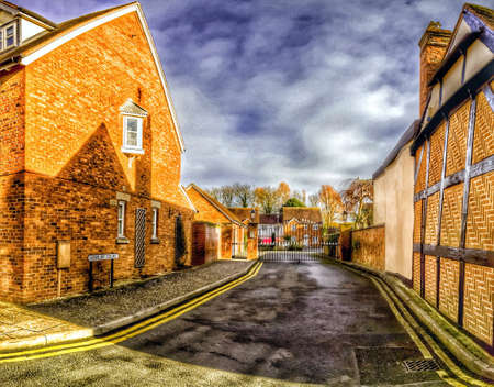 english village: Typical picturesque English village Stock Photo