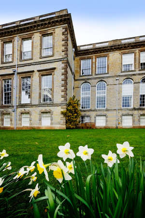 stately home: Gardens if stately home Stock Photo