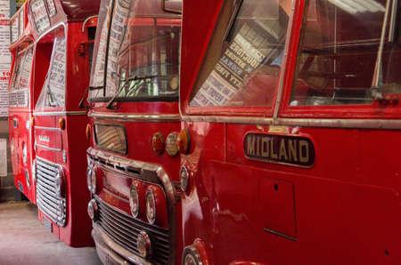 industrieel: Bus en vervoer museum Stockfoto