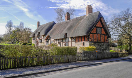 english village: Pretty cottage in an english village