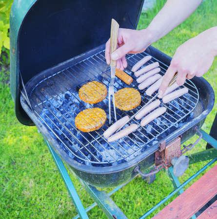 closeup: Barbecue Stock Photo