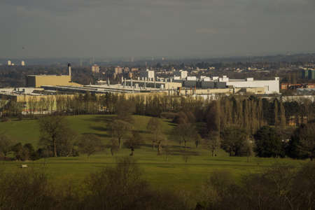 industrial: View of the suburbs of the city of Birmingham West Midlands england uk