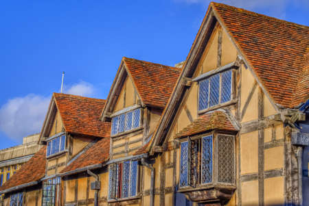 stratford upon avon: Old half timbered houses in the centre of Stratford upon Avon uk