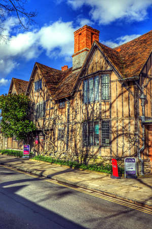 half timbered: Old half timbered houses in the centre of Stratford upon Avon uk