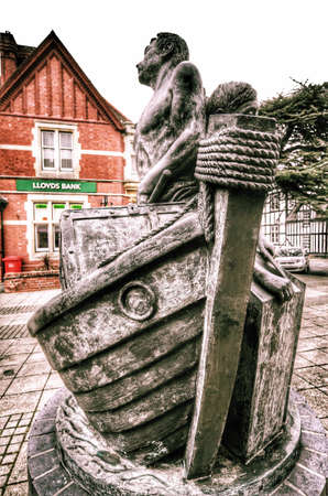 mining town: Old historic centre of droitwich spa famous as a salt mining town and thermal bath spa town