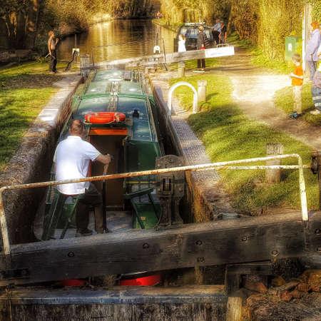 inland waterways: Cruising on the stratford canal england UK