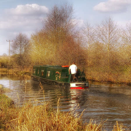 stratford: Cruising on the stratford canal england UK