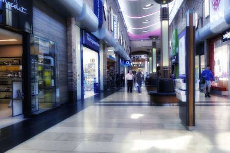 urban: Town shopping retail centre mall