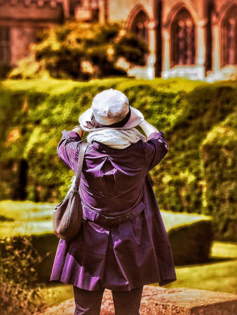 stately home: Tourist at English stately home Stock Photo