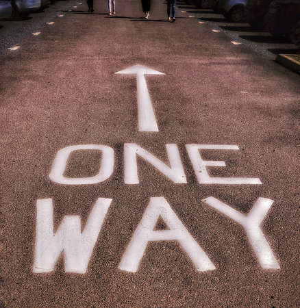 contradictory: One way sign