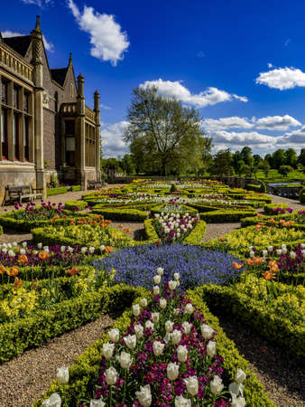 stately home: Gardens English stately home