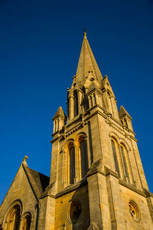parish: english parish church batsford cotswolds Stock Photo