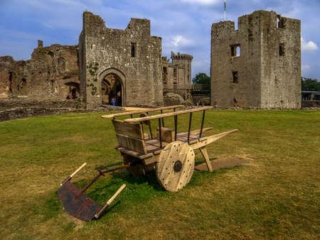 raglan castle wales Stock Photo
