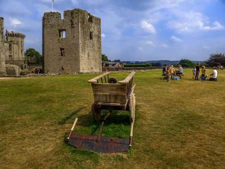 wales: raglan castle wales Stock Photo