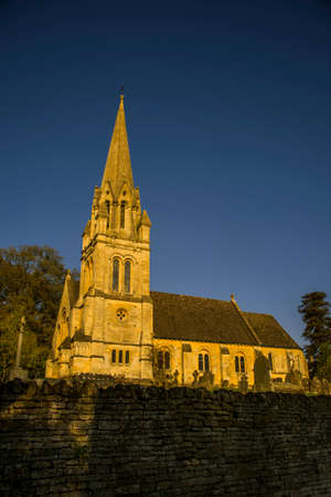 english parish church batsford cotswolds Stock Photo