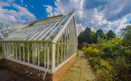 greenhouse ryton organic gardens nr. coventry midlands england Stock fotó