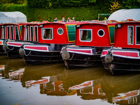canal river in the english countryside worcester and birmingham alvechurch worcestershire midlands england uk