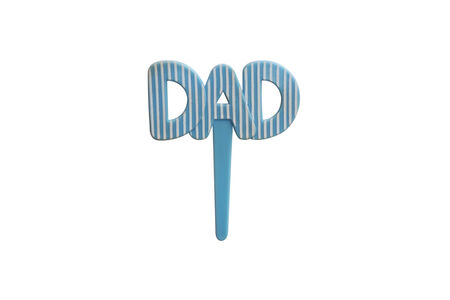 haut de forme: Papa Light Blue Muffin Topper