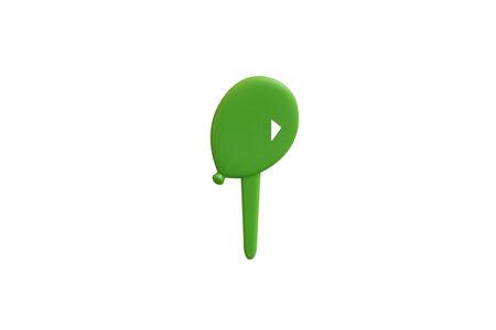 topper: Green Balloon Muffin Topper