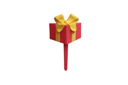 topper: Red Gift Muffin Topper