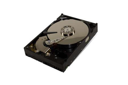 harddrive: Open hard drive isolated on white background Stock Photo