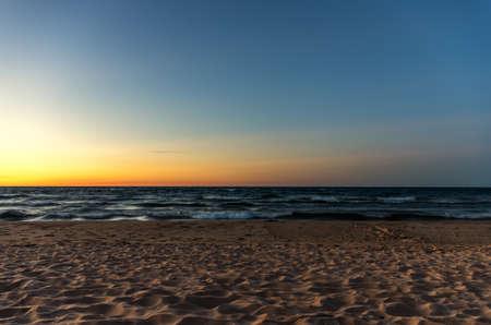Sunset on AuTrain Beach in Upper Michigan