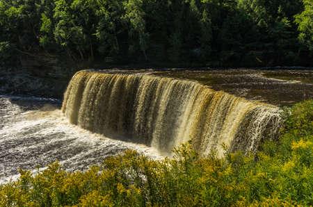 Upper Tahquamenon Falls in Upper Michigan Stock Photo
