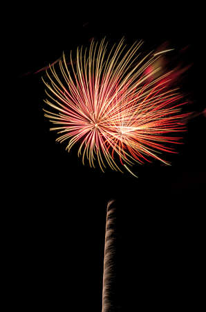 Fireworks closing the 51st annual Ankeny Summerfest in Ankeny, IA, USA