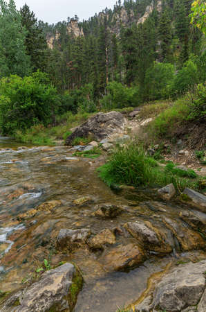Spearfish Canyon in the Black Hills of South Dakota Stock Photo