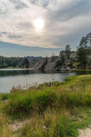 Sylvan Lake in South Dakotas Custer State Park.  Near Mount Rushmore National Memorial