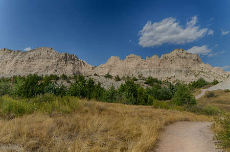 Badlands National Park in South Dakota.  Wild West.