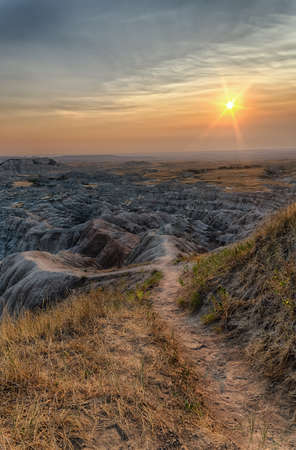 Badlands National Park in South Dakota.  Wild West.