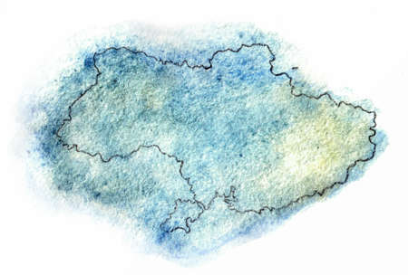 cartographer: Ukraine map illustration region, republic, shape