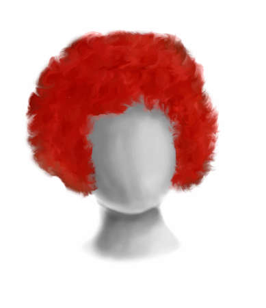 red hair: Circus red hair illustration performance, person set