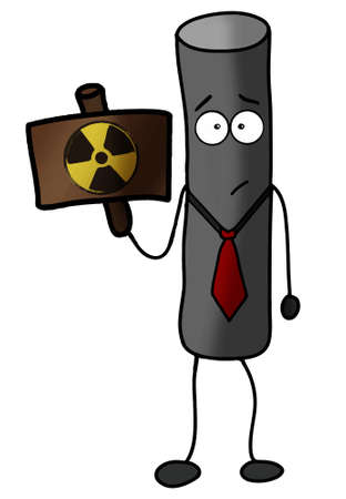 explosive gas: Radioactive particle warning illustration power, protection Illustration