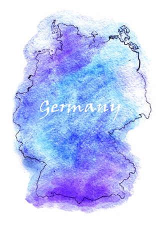 nation: Germany map illustration set world nation Illustration