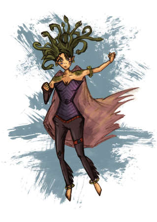 medusa: Medusa gorgona illustration greek snake woman