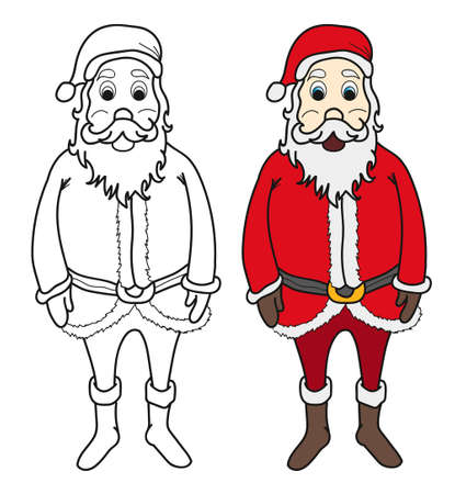 moroz: Santa claus for colouring book illustration