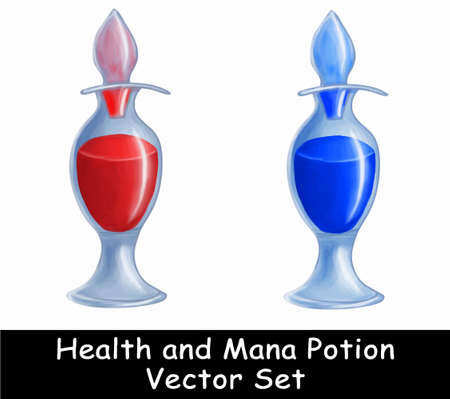 mana: Health and mana portion illustration game set