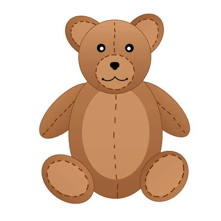 cute teddy bear: Cute teddy bear on white background illustration