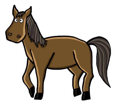 nostrils: horse cartoon illustration cartoon animal character Illustration