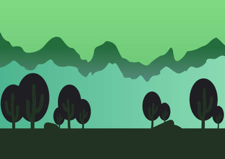 horizont: Game forest parallax background illustration